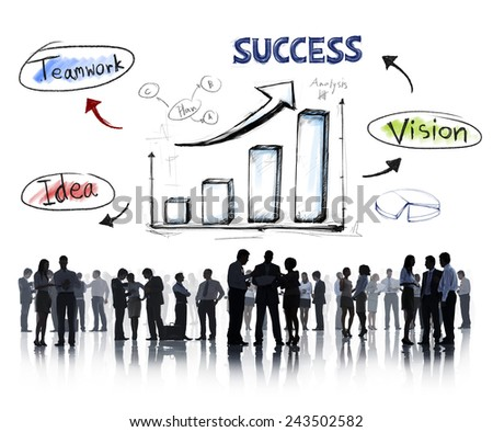 Business People Strategy Success Team Discussion Brainstorming Concept - stock photo