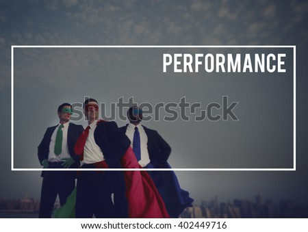 Business People Supereheroes Frame Word Concept - stock photo