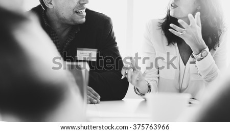 Business People Talking Discussing Concept - stock photo