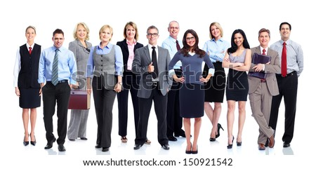 Business people team. Isolated on white background. - stock photo