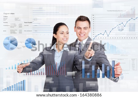 business people team work group during conference report discussing financial diagram, charts, businesspeople meeting pointing hand finger at graph