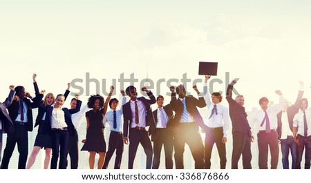 Business People Togetherness Corporate Team Celebration Concept