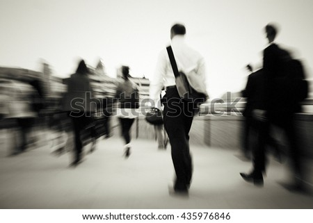 Business People Walking To Their Workplace Concept - stock photo