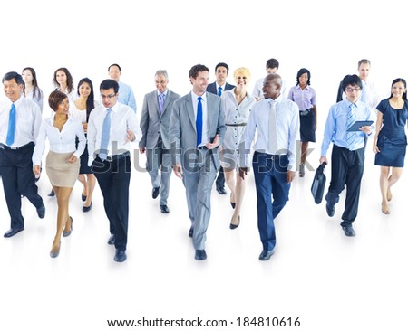 Business People Walking Toward Camera - stock photo