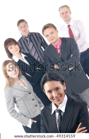 Business people  (Warning! Only the front woman is in focus)
