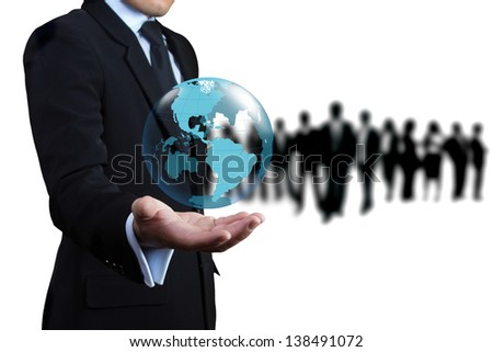 Business people who want to join the team. - stock photo