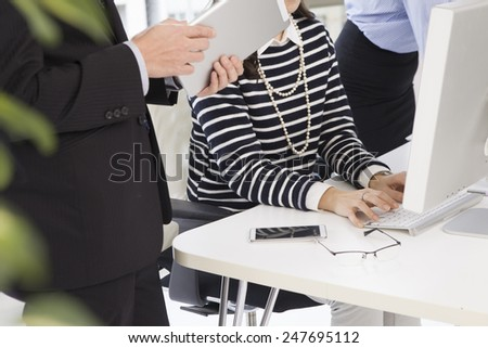 Business people working at an office