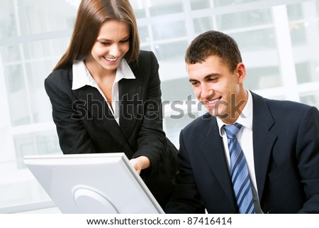 Business people working at office - stock photo