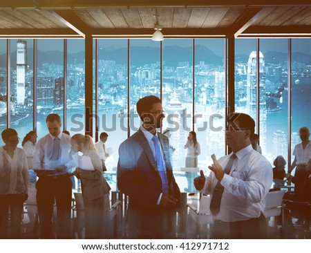 Business people working in a conference room. - stock photo