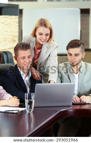 Business people working in conference room
