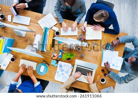 Business People Working Office Corporate Team Concept - stock photo