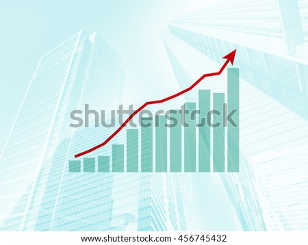 Business performance up - stock photo
