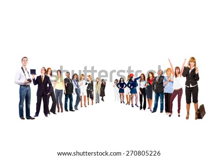 Business Picture Clerks Compilation  - stock photo