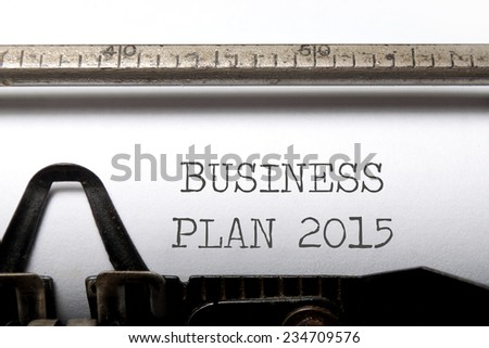 Business plan 2015  - stock photo