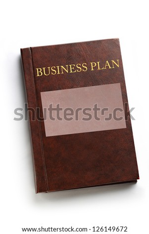 Business plan book on white