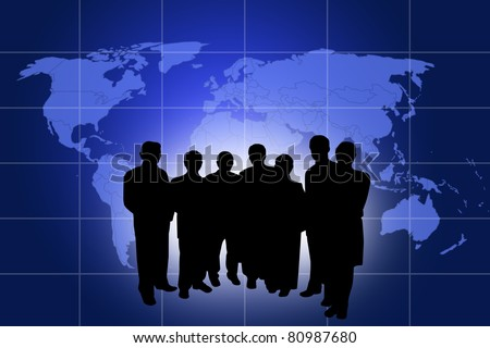 Business plan for a global market, Data source: NASA - stock photo