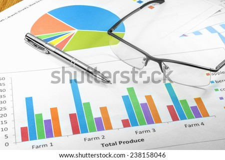 business plan glasses graphic handle planning - stock photo