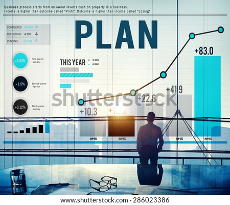 Business Plan Planning Mission Success Concept - stock photo