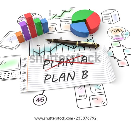 Business plan strategy changing concept - stock photo