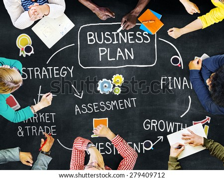 Business Plan Strategy Marketing Vision Concept - stock photo