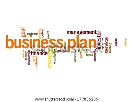 Business plan word cloud - stock photo