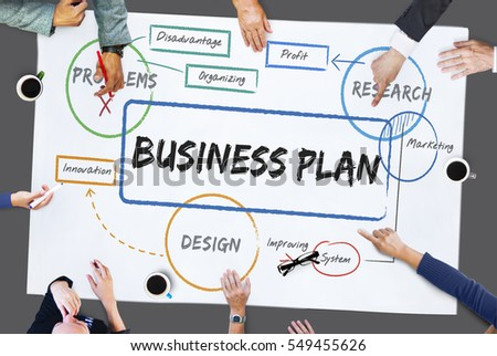 Business planning process diagram chart