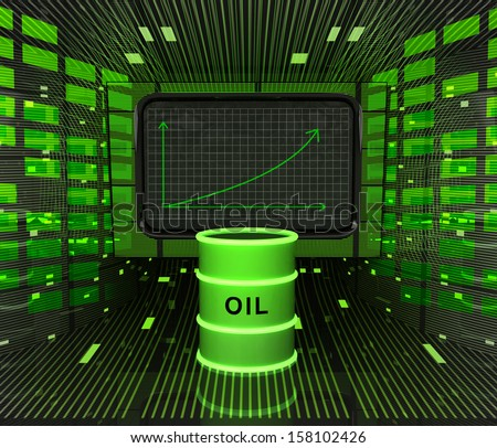 business positive graph forecast or results in fuel industry illustration - stock photo