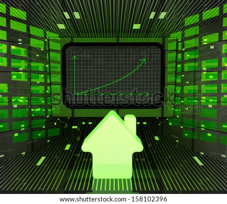 business positive graph forecast or results in property industries illustration - stock photo