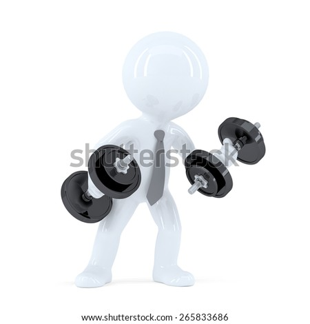 Business power.Conceptual illustration. Isolated. Contains clipping path. - stock photo