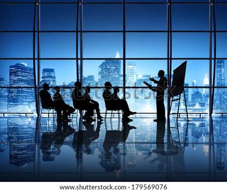 Business Presentation in New York City Office - stock photo