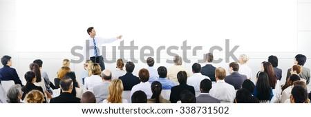 Business Presentation Seminar Corporate Training Concept - stock photo