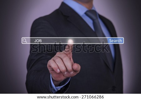 Business pressing job Search button - stock photo