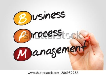 Business process management ( BPM ) acronym business concept - stock photo