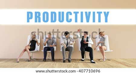 Business Productivity Being Discussed in a Group Meeting 3D Illustration Render - stock photo