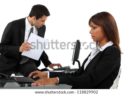 Business professionals at the office - stock photo