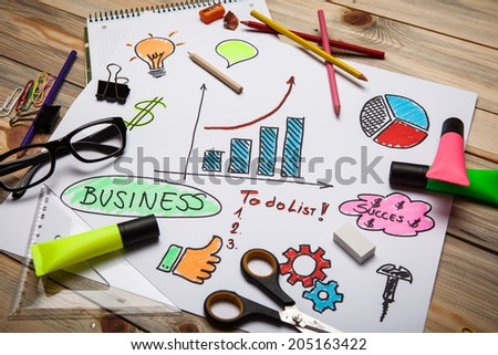 Business projects - stock photo