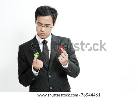 Business puzzles - stock photo