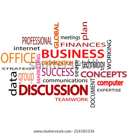 Business related words text. White  background.  illustration. - stock photo