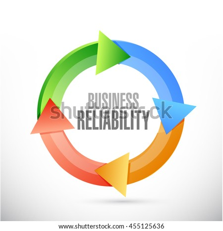Business reliability color cycle sign concept illustration design graphic - stock photo