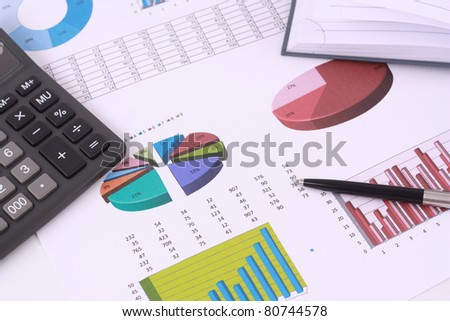Business report - stock photo