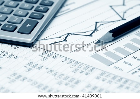 Business reports. - stock photo