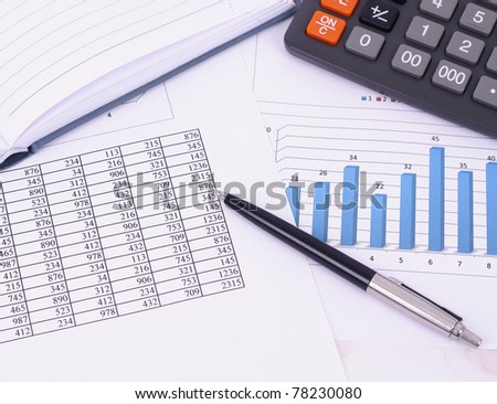 Business reports - stock photo
