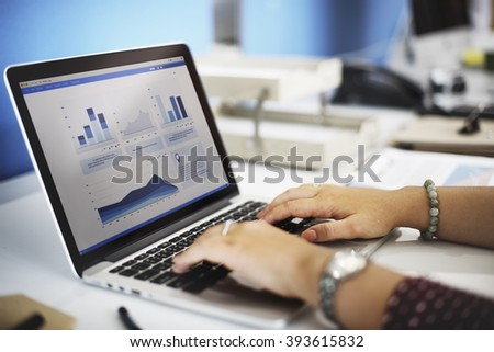 Business Research Data Economy Statistics Concept - stock photo