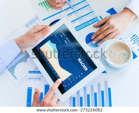 Business, research, report. - stock photo