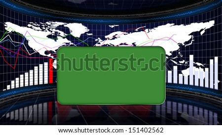 Business Room and Center Monitor - stock photo