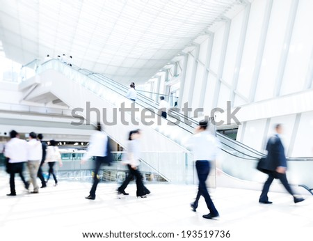 Business rush hour. - stock photo