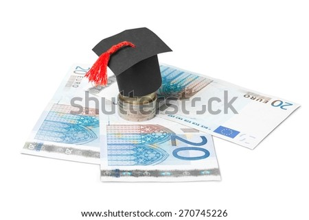 Business. Saving for higher education - stock photo