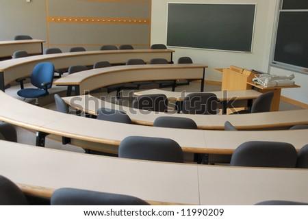 Business school classroom - stock photo