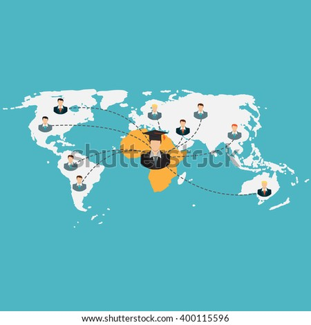 Business School Education in Africa Concept Illustration  - stock photo