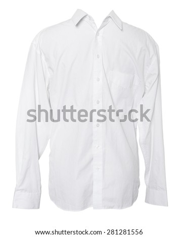 Business Shirt on Isolated White Background